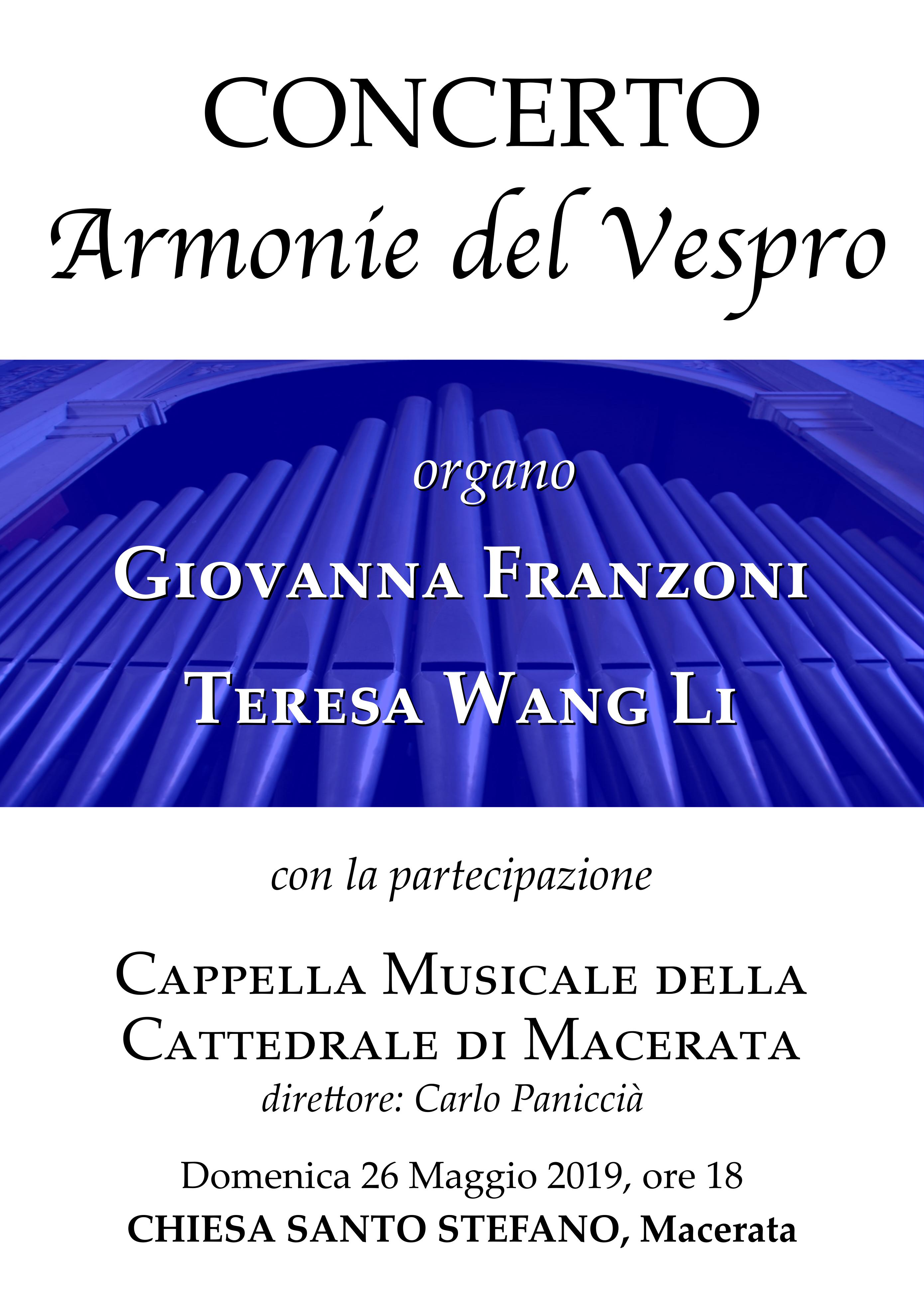 """Concerto """"Armonie del Vespro"""" per organo a quattro mani e coro"""